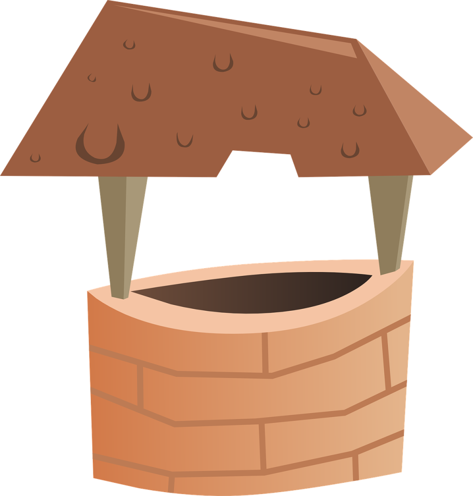 Illustration of wishing well